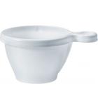 Paquet de 50 tasses à café blanches anse intégrée - 18 cl