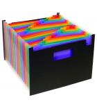 Trieur polypro VIQUEL Rainbow Class - 24 compartiments - noir