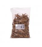 Boîte d'1 kg d'élastiques blonds - 120 x 10 mm