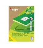 Boîte 100 feuilles A4 - 2400 étiquettes multiusages adhésives recyclées APLI - 101187 - 70 x 37 mm