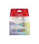 Pack 3 cartouches d'impression jet d'encre 3 couleurs CANON 3x530 pages - CLI-521CMY