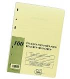 Recharge 100 feuillets - pages de garde prévues pour assemblée - conseil - inventaire - blanc