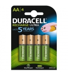 Paquet de 4 piles rechargeables DURACELL - LR6 AA - 1,2 volts