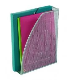 Porte-revues ALBA Mesh - métal - dos 9 cm