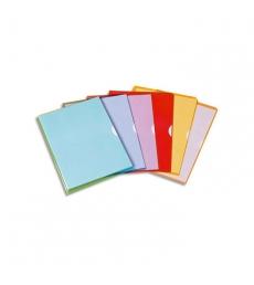 Paquet de 10 pochettes coin PVC ELBA Fard'or