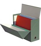Boîte de classement en pate naturelle recyclée - dos 12 cm