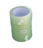 Tube de 6 adhésifs transparents - 25 mm x 66 m