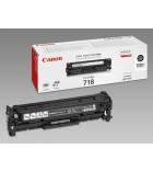 Cartouche d'impression laser couleur noir CANON 3400 pages - CRG-718BK
