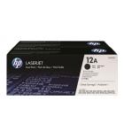 Pack 2 cartouches d'impression laser noir HP 2 x 2000 pages - Q2612AD - 12A