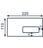 Boîte de 500 enveloppes auto-adhésives CLAIREFONTAINE Forever - 110 x 220 mm - fenêtre 45x100 - 80g
