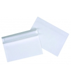 Boîte de 500 enveloppes autocollantes - 114 x 162 mm - sans fenêtre - 80 g