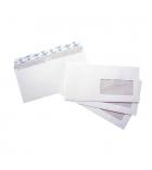 Boîte de 500 enveloppes ouverture facile - 110 x 220 mm - fenêtre 45 x 100 - 90 g
