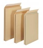 Boîte 50 pochettes auto-adhésives kraft brun armé - 300 x 470 mm - sans fenêtre -130 g - soufflet 70