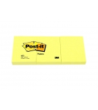 Lot de 3 blocs notes repositionnables POST-IT - 38 x 51 mm - jaune
