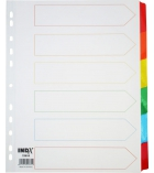 Jeu intercalaires mylar - 6 touches couleurs - 160g - A4+