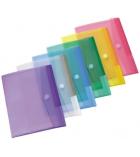 Lot de 12 enveloppes translucides TARIFOLD  T collection - pour A4 - assortiment