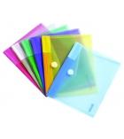Sachet de 6 enveloppes translucides TARIFOLD T-collection - pour A5 - assortiment