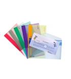 Sachet de 6 enveloppes translucides TARIFOLD T collection format chéquier - assortiment