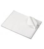 Carton papier listing 2000 plis 11''x 380 mm - 1+0 - 60 g - blanc - bande caroll détachable