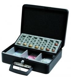 Caisse à monnaie avec monnayeur coulissant