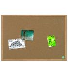 Tableau d'affichage en liège recyclé BI-OFFICE - cadre en chêne - 90 x 60 cm