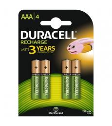 Paquet de 4 piles rechargeables DURACELL - HR03 - 1,2 volts