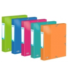 Lot de 10 boîtes ELBA Colorlife 24 x 32 cm - dos 4 cm - assortiment