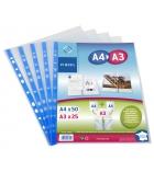 Sachet de 25 pochettes perforées VIQUEL double format A4/A3