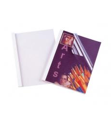 Boîte de 100 chemises préencollées transparentes - dos 3 mm - blanc