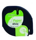 Ruban laminé papier DYMO Letratag - 12 mm x 4 m - noir/blanc