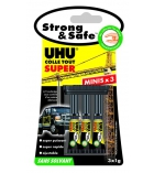 Lot de 3 colles de 1g UHU - Glue Strong&Safe