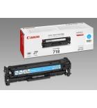 Cartouche d'impression laser couleur cyan CANON 2900 pages - CRG-718C