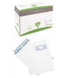Boîte de 250 pochettes auto-adhésives LA COURONNE - 229 x 324 mm - fenêtre 110 x 50 - 90 g