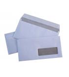 Boîte de 500 enveloppes auto-adhésives LA COURONNE - 110 x 220 mm - fenêtre 45 x 100 - 80 g