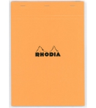 Bloc-notes piqûre RHODIA - A4+ - 210  x 318 mm - 5 x 5 - 80 g