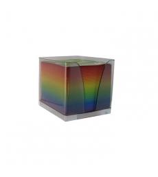 La recharge de bloc cube arc en ciel - plexi fumé