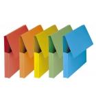 Paquet de 10 pochettes à rabat FAST VIP - dos 3 cm - couleurs vives