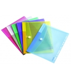Sachet de 12 enveloppes perforées TARIFOLD T-Collection - coloris translucides assortiment