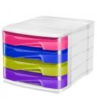Bloc de classement CEP Happy - 4 tiroirs - multicolore