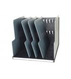 Trieur vertical EXACOMPTA Modulotop cases jumbo - noir/gris souris