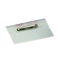 Boîte de 100 badges - avec épingle - 40 x 60 mm