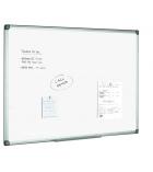 Tableau blanc laqué - cadre PVC - 90 x 120 cm
