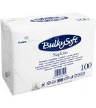 Paquet de 100 serviettes 2 plis ouate blanche - 30 x 40 cm