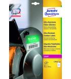 Boîte de 40 étiquettes polyethylène laser AVERY - L7915-10 - 99,1 x 139 mm