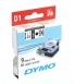 Ruban laminé DYMO D1 - 9 mm x 7 m - noir/blanc