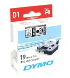 Ruban laminé DYMO D1 - 19 mm x 7 m - noir/transparent