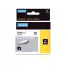 Gaine thermo-rétractable DYMO pour rhino - 12 mm - noir/blanc