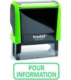 """Tampon TRODAT- X printy - encrage automatique """"pour information"""""""