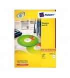 Boîte de 50 étiquettes laser CD/DVD AVERY L7676-25 maxi-couvrantes Ø117 mm