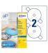 Boîte de 50 étiquettes jet d'encre CD/DVD AVERY J8676-25 maxi-couvrantes Ø117 mm
